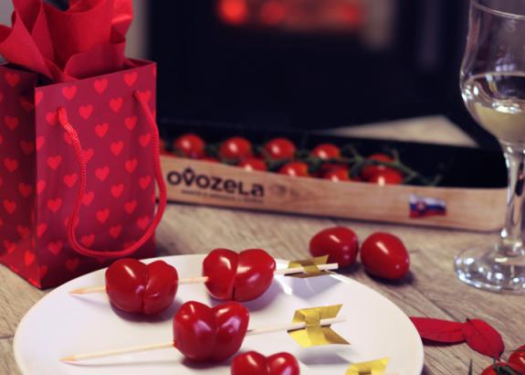 Valentínske srdiečka zo cherry paradajok OVOZELA