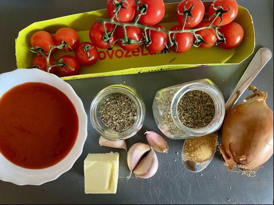 paradajková omáčka recept